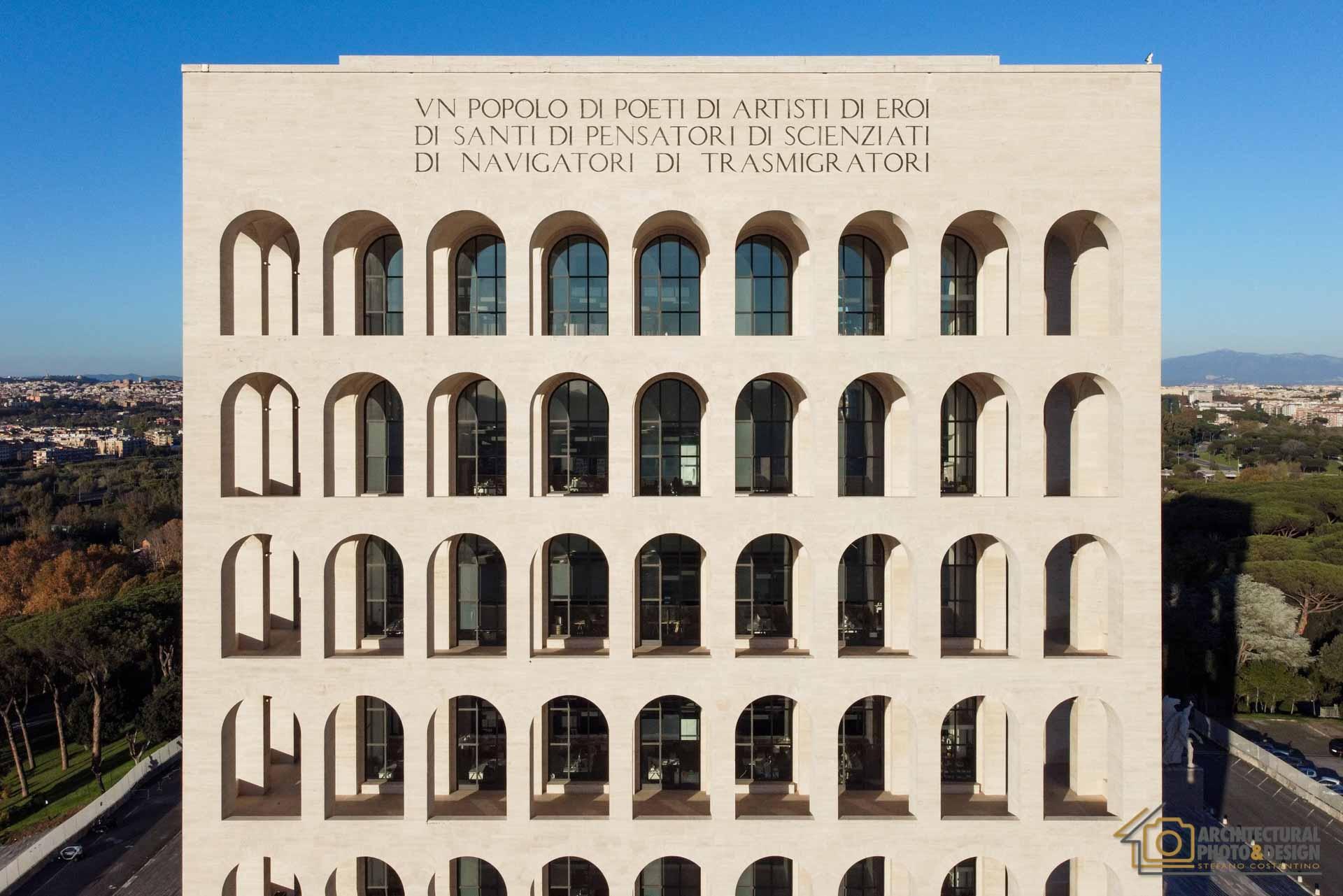 Palazzo della Civiltà Italiana dal Drone
